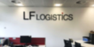 Office sign LF Logistics