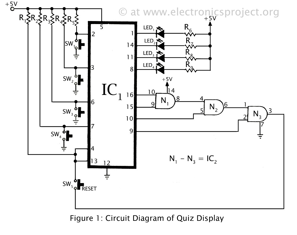 Projects To Magnify Schematic Circuit Diagram Tv Led Quiz Display