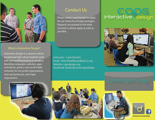 Pyramiddle design for Interactive brochure design