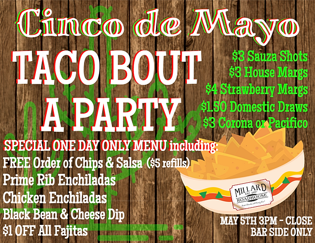 Cinco de Mayo Party at the Roadhouse