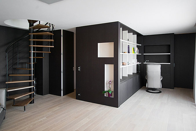 agencement combles sur mesure. Black Bedroom Furniture Sets. Home Design Ideas