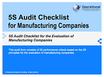 5s Audit Template. how to sustain the 5s program discussion forum ...