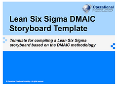Ppt Lean Six Sigma Dmaic Report Template