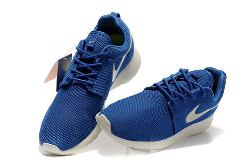 Nike Roshe Run Azul Marino Y Blanco