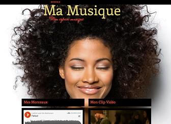 Ma Page Musique Template - Mettez votre groove en ligne avec ce template d'une page ! Téléchargez morceaux et vidéos, annoncez vos dates et partagez votre actu avec vos fans. Personnalisez le design et les couleurs pour créer un site web en harmonie avec votre musique !