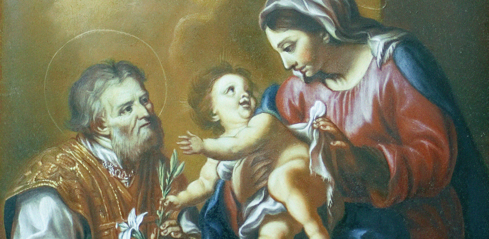 """Gemäldekopie der """"Heiligen Familie"""" nach Carlo Marratta - Barock"""