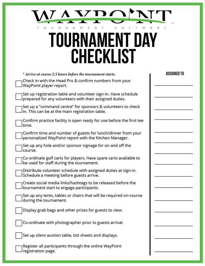 tournament day checklist waypoint great golf tournaments start here. Black Bedroom Furniture Sets. Home Design Ideas