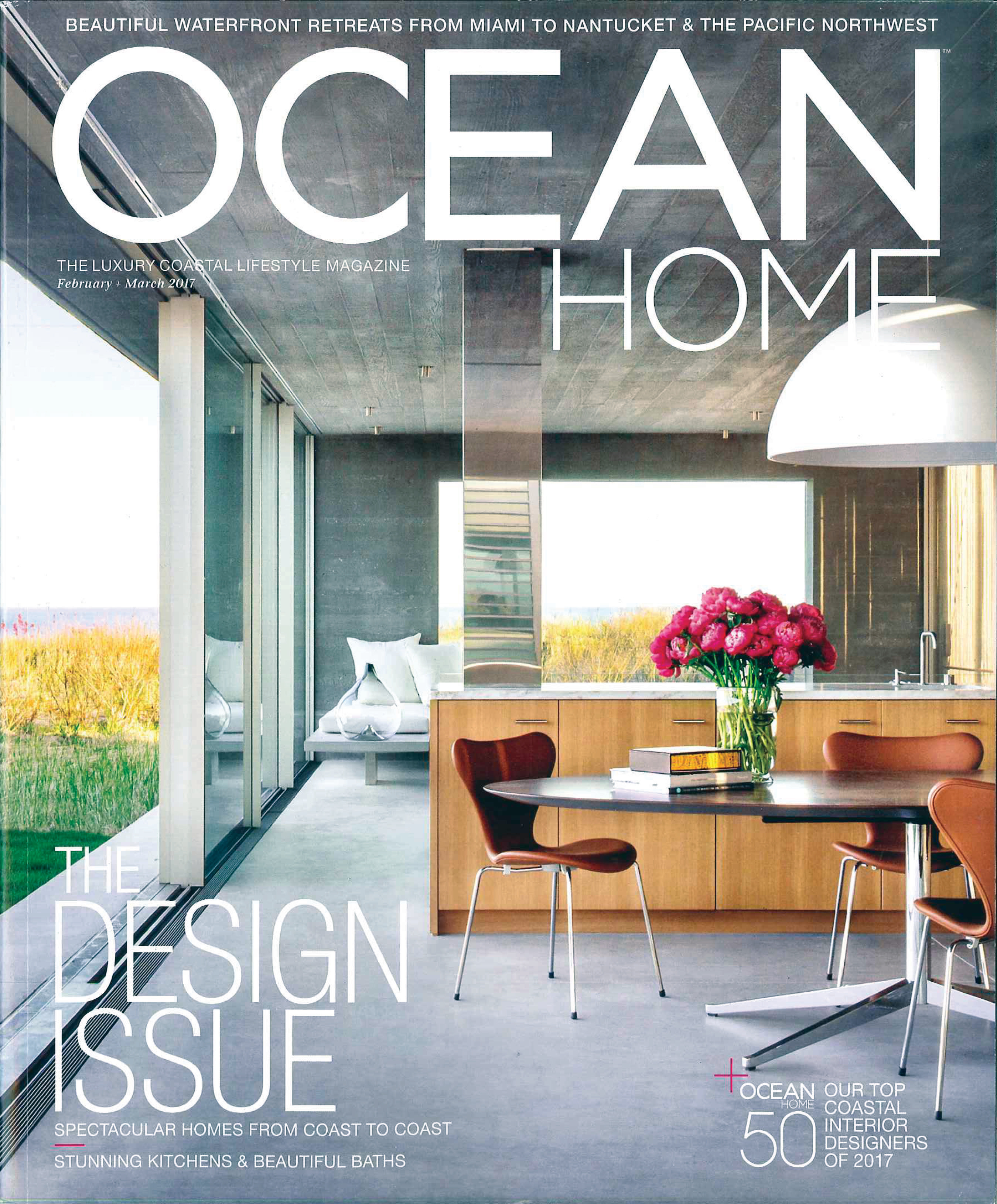 Beautiful Kitchens Magazine Ocean Home February 2017 Top 50 Designers Richard Mishaan Design