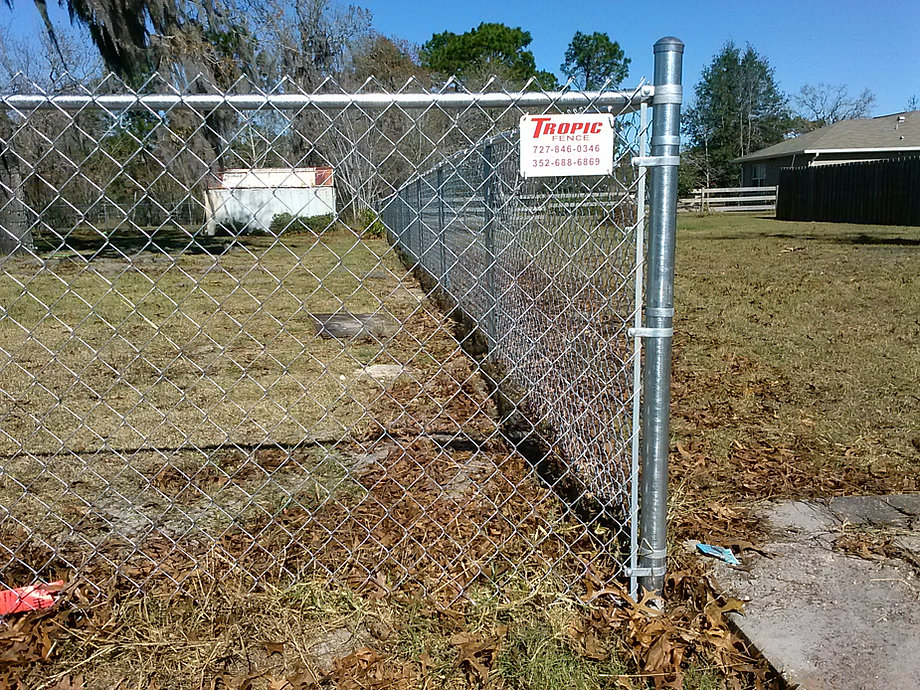 Vinyl fence aluminum chain link and wood