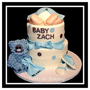 Baby Blue Rump and Teddy Bear Cake