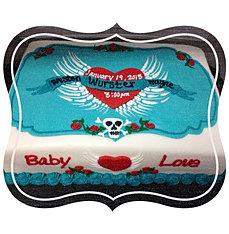 Baby Love Tattoo Baby Shower Cake