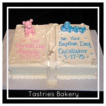 Baby Baptism Celebration Cake