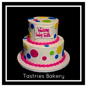 Colorful Polka Dot Baby Shower Cake