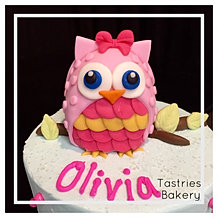 Handcrafted Fondant Owl