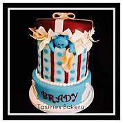 Blankets and Bears Baby Boy Cake