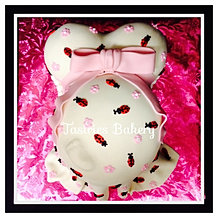 Lady Bug Baby Bump Cake