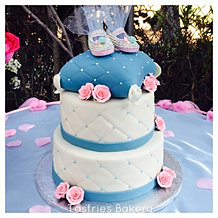 Pillow Top Baby Shower Cake