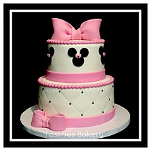 Pink Minnie Mouse with Bows Cake