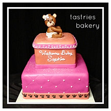 Diaper Bear Baby Shower Cake