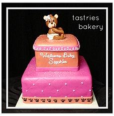 Diaper Bear Baby Shower Cake
