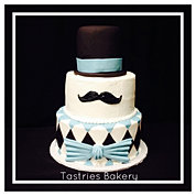 Little Mr. Mustache Cake