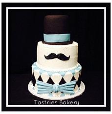 Little Mr. Mustache Cake
