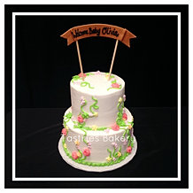 Welcome Baby Banner Cake