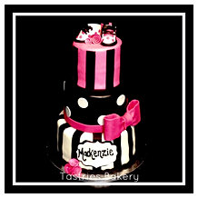 Black White and Hot Pink Baby Shower