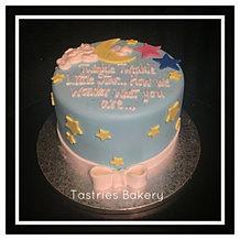Twinkle Twinkle Baby Reveal Cake