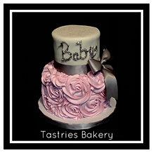 Shabby Chic Baby Girl Cake