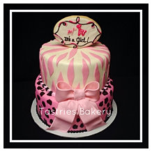 It's a Girl Safari Cake