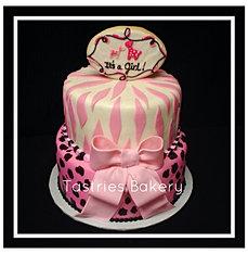It's a Girl Safari Cake