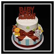 Safari Bow Baby Cake