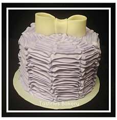 Purple Ruffled Buttercream Cake