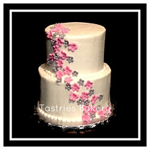 Cascading Fondant Flower Cake