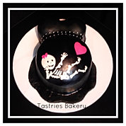 It's a girl Skeleton Baby Bump Cake