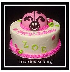 Bubblegum Pink Ladybug Cake