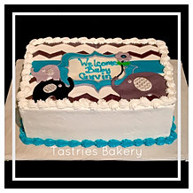 Chevron Baby Shower Sheet Cake