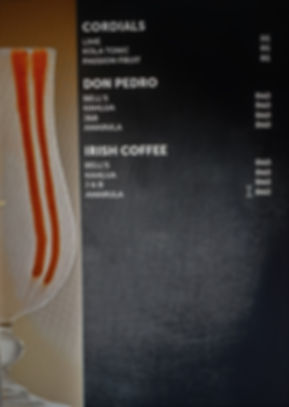 irish coffee and dom pedro