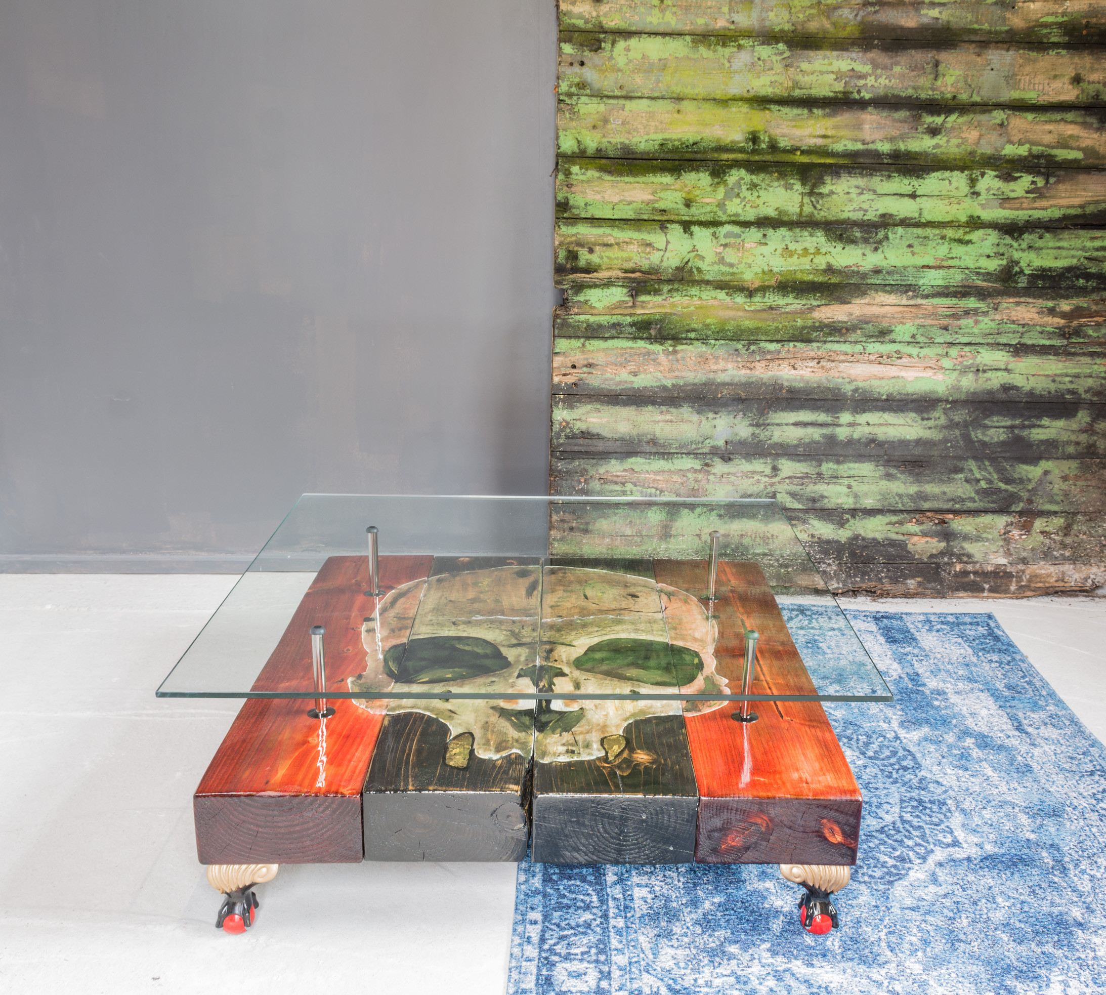 The joker playing card table cappa e spada designs liverpool gothic skull coffee table geotapseo Gallery