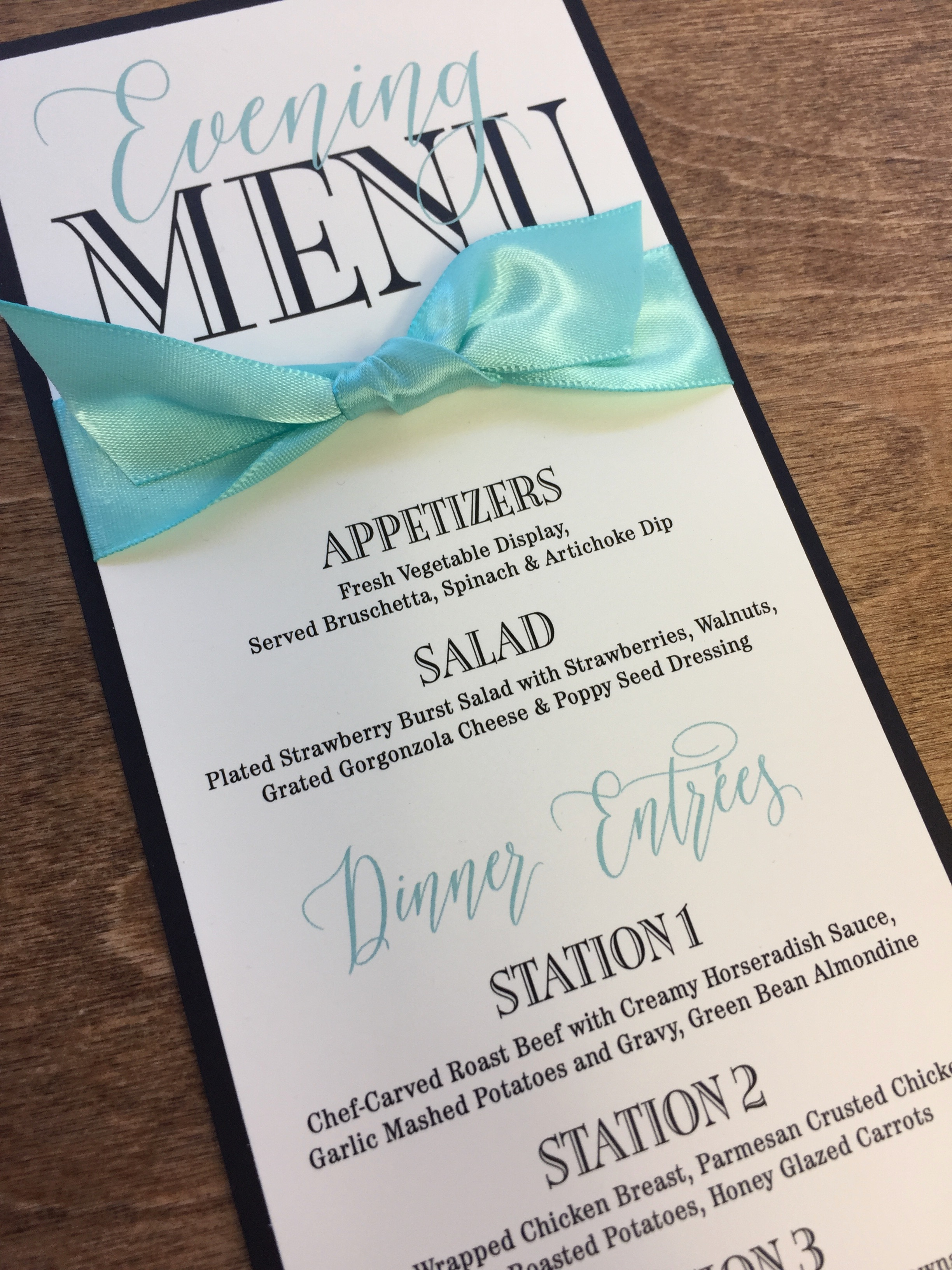 Menu Cards, yes or no | Wedding Invitations and Event Stationery ...