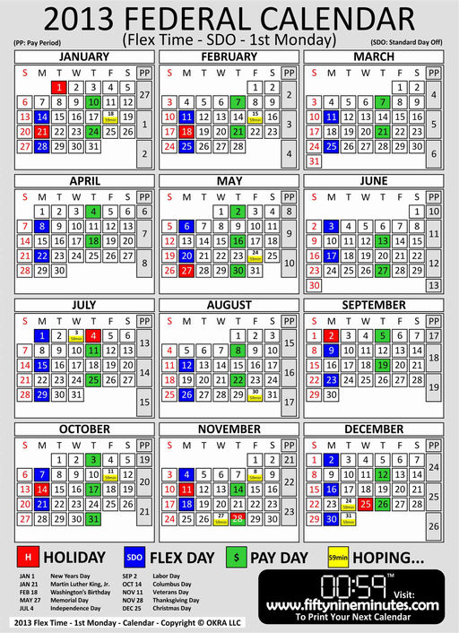 Army Civilian Pay Calendar 2016 | Calendar Template 2016