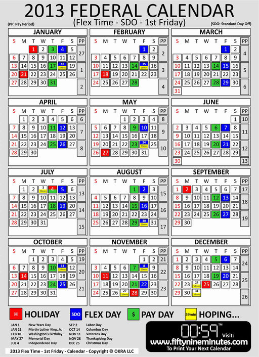 2016 Calendar With Federal Pay Days | Calendar Template 2016