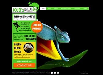 Mundo reptil Template - Los camaleones se mimetizan, pero tu empresa debe sobresalir. Personaliza esta intensa plantilla para llevar online a tu tienda de reptiles o empresa de mascotas exóticas. ¡Agrega tus imágenes, videos y texto para crear un sitio que sea exclusivamente tuyo!