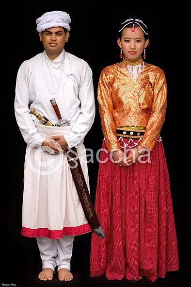 Saccha Karki Photography Thakuri Dress