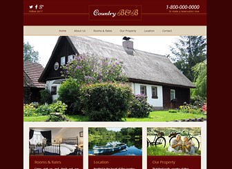 Old-Country Bed & Breakfast Website Template | WIX