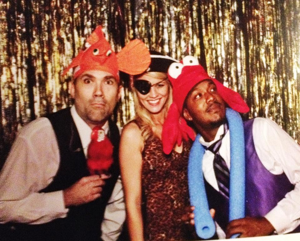 Scott/Chloe/Kevin being silly :-)