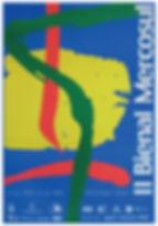 """A marca da II Bienal foi desenvolvida pela GAD'DESIGN tendo como referência a obra Face, 1984 da série """"Carretéis"""" do artista Iberê Camargo"""