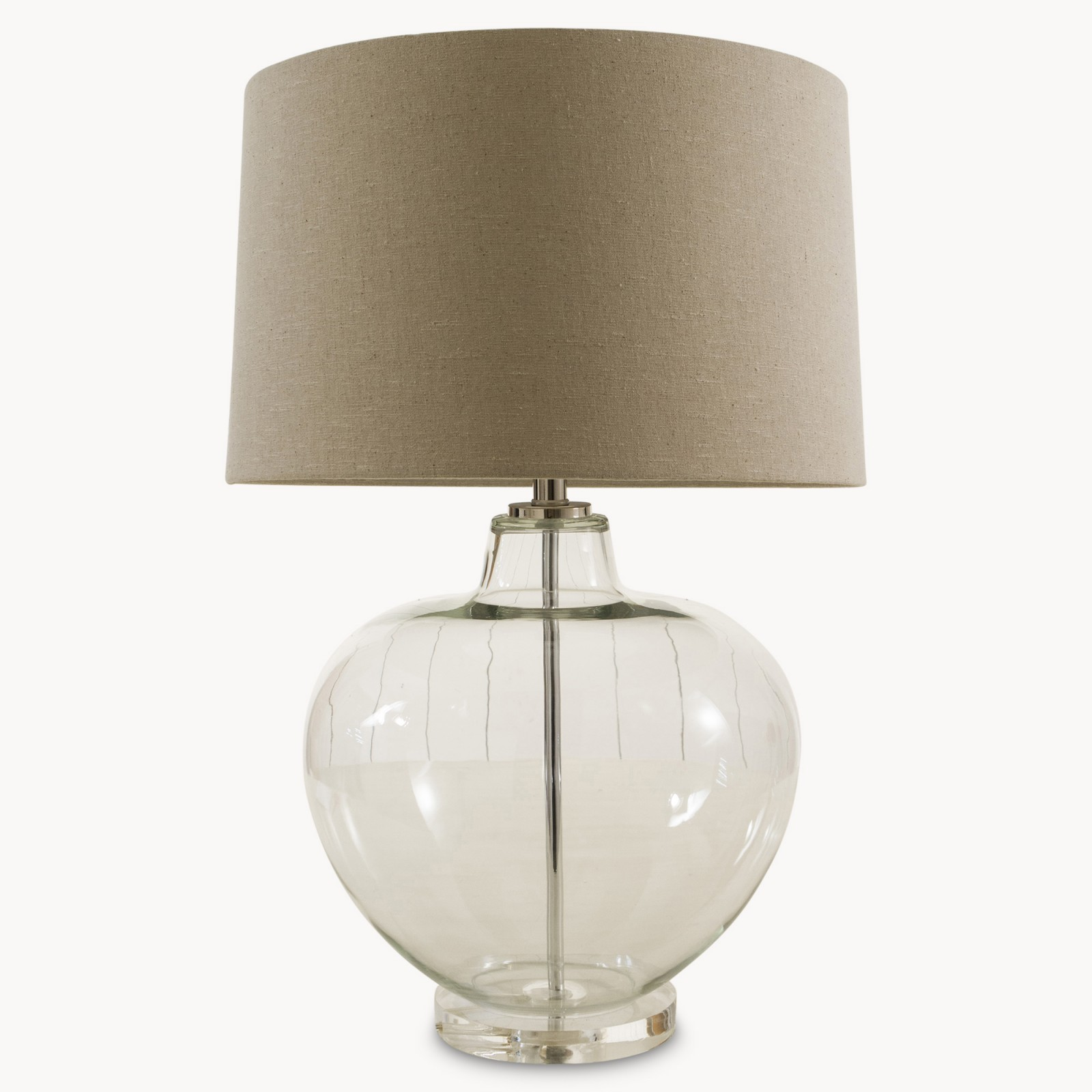 clear glass ball table lamp 20 off woodcocks interiors. Black Bedroom Furniture Sets. Home Design Ideas