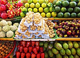 Fresh fruits at Ben Thanh Market